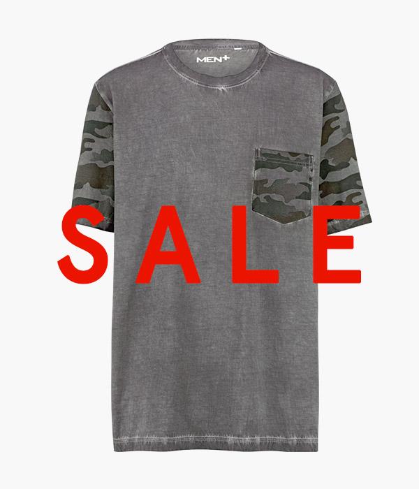 T-shirt met oil washed effecten